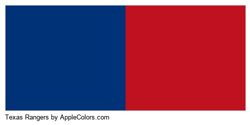 Texas Rangers Team Colors Major League Baseball Applecolors