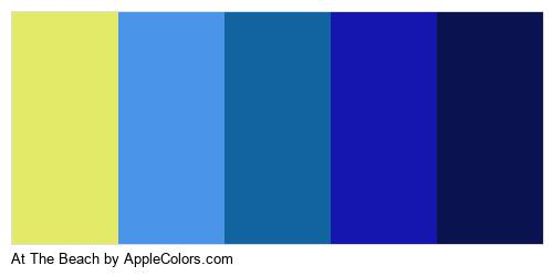 At The Beach Palette Colors Logo